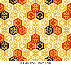Seamless japanese kikkou pattern