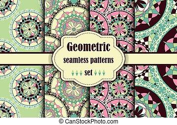 Seamless japanese pattern set.