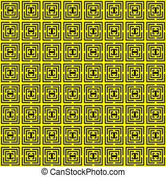 seamless, jaune, noir, asymetrical, labirinth, spyral
