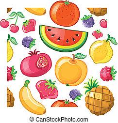 Seamless Juicy fruit texture.