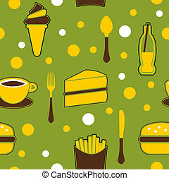 Seamless Junk Food Background