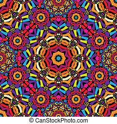 seamless kaleidoscope pattern - vector illustration