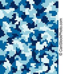 seamless, kamouflage, digital