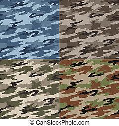 seamless, kamouflage, mönster