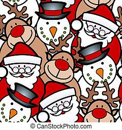 seamless, karácsony, háttér