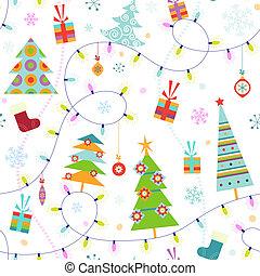 seamless, karácsony, motívum