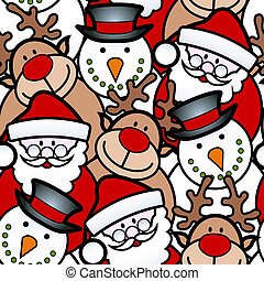seamless, kerstmis, achtergrond