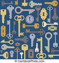Seamless key pattern