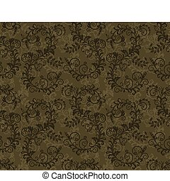Seamless khaki green foliage pattern. This image is a vector...