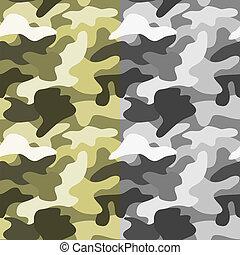 Seamless khaki pattern in vector