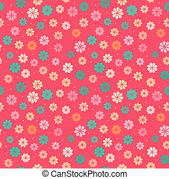 Seamless kid floral pattern