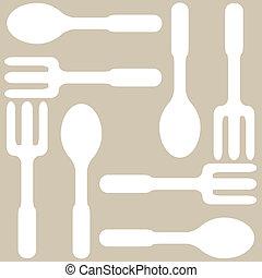 Seamless kitchen background