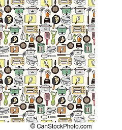 seamless Kitchen pattern  - seamless Kitchen pattern
