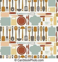 seamless kitchen vector