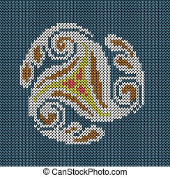 Seamless knitted background - abstraction wind. Jacquard pattern. Vector illustration.