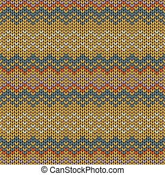 Seamless knitted geometric pattern, vector illustration.