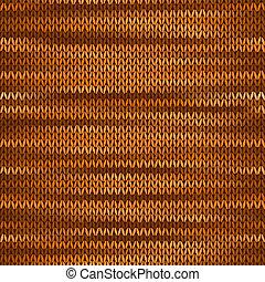 Seamless Knitted Melange Pattern. Orange Brown Color Vector Illustration