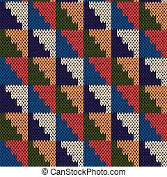 Seamless knitted motley geometric pattern