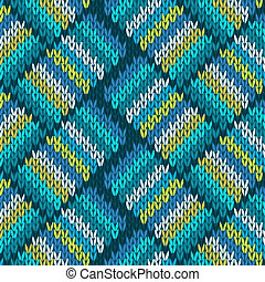 Seamless Knitted Pattern. Style Knit woolen jacquard...