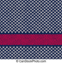 Seamless Knitted Pattern - Style Seamless Marine Blue White...