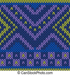 Seamless knitted pattern in bright colors.