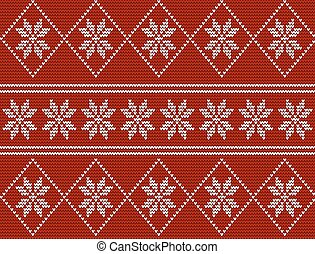 Seamless knitted pattern in nordic style