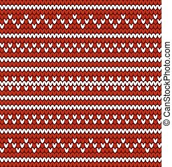 Seamless knitted pattern in nordic