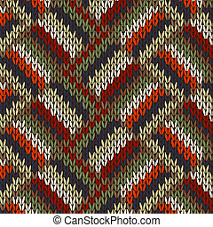 Seamless Knitted Pattern - Style Seamless Knitted Pattern....