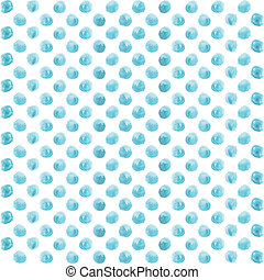 seamless, kropka polki modelują, z, watercolor farba, błękitny, circles.
