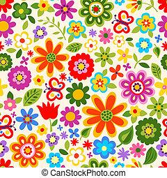 seamless, kwiat, barwa, próbka