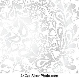 seamless, kwiatowy, tło., wektor