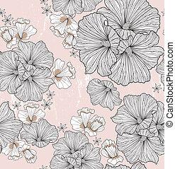 seamless, kwiatowy wzór