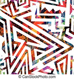 seamless, laberinto, coloreado, patrón