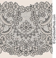 seamless lace border