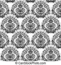 seamless lace flora - Black Lace. Floral pattern. Seamless...
