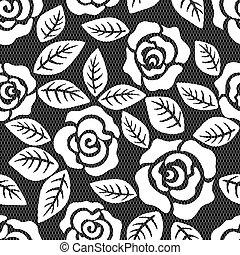 Seamless lace - flower rose pattern