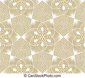 Seamless lace pattern on beige background