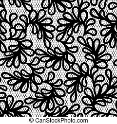 Seamless lace pattern, vector