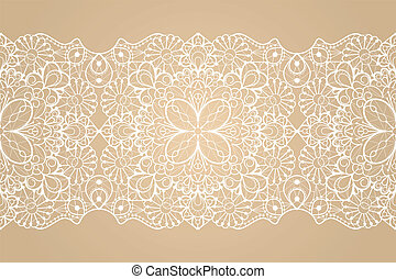 Seamless lace ribbon