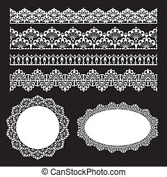 Seamless lace set - Set of lace trims. Elements can also be ...