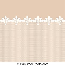 Seamless lacy border.