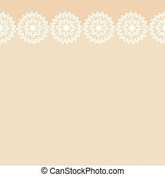 Seamless lacy border