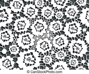Seamless lacy decor with abstract floral pattern