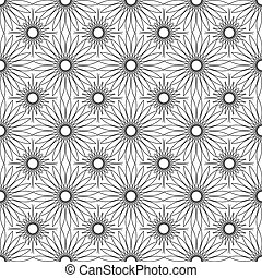 Seamless lacy floral texture. Vector art.