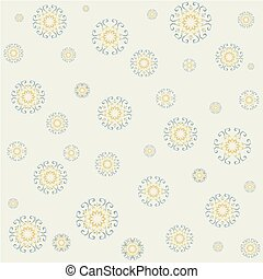 Seamless lacy pattern on yellow background