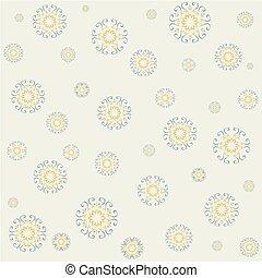 Seamless lacy pattern on yellow background