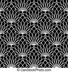 Seamless lacy pattern. Vector art.