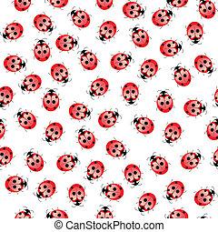 Seamless ladybug pattern - Seamless ladybug pattern....