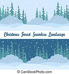 Seamless Landscapes, Christmas Trees