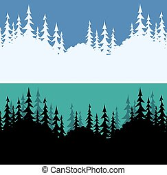Seamless Landscapes, Fir Trees
